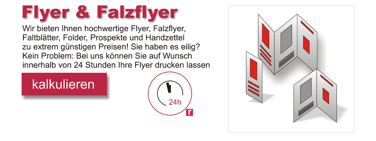 Flyer & Falzflyer drucken